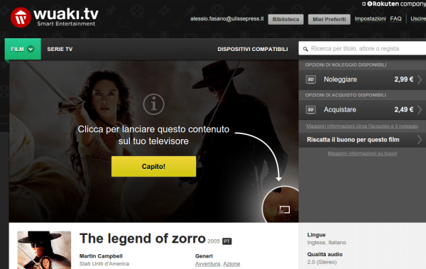 Guarda The legend of zorro online   Wuaki.tv