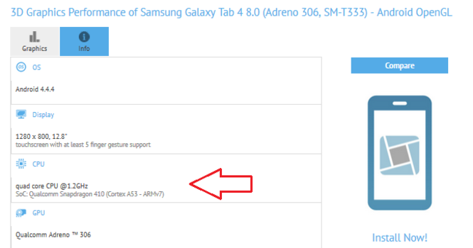 Samsung Galaxy Tab 4 Snapdragon 410