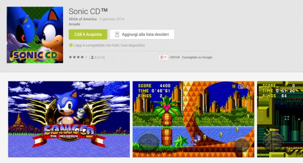 Sonic CD App Android su Google Play