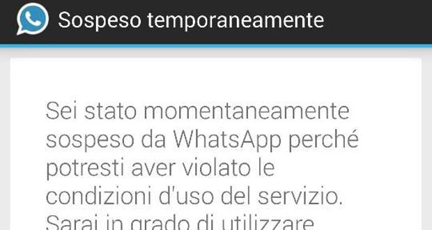 WhatsApp Ban Utenti