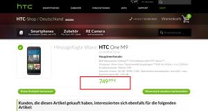 Der Artikel wurde Ihrem Warenkorb hinzugefügt.   Der offizielle HTC Shop    Germany