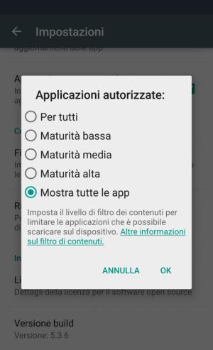 Come impostare dei filtri per il download dal Play Store
