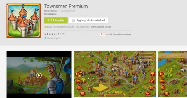 Townsmen Premium   App Android su Google Play