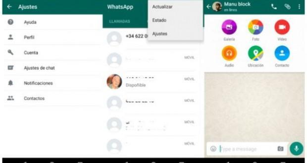 WhatsApp in Material Design