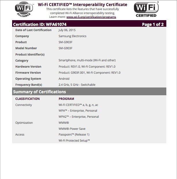 Samsung Galaxy S5 Neo Riceve La Certificazione Wifi