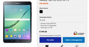 Samsung Galaxy Tab S2 disponibili in pre-ordine
