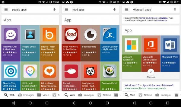 Google espande la ricerca delle apps anche a Google Now