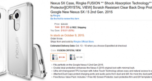 LG Nexus 5X cover su Amazon