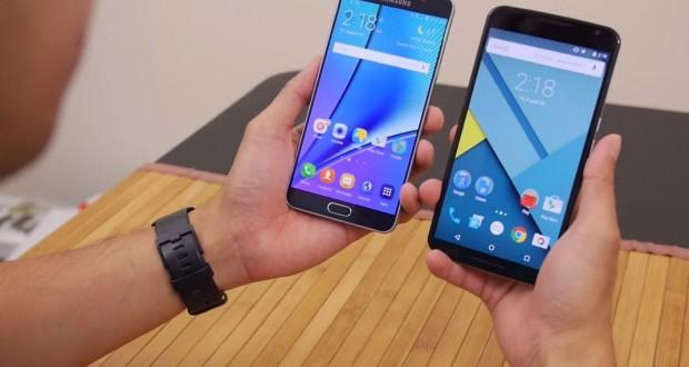 Samsung Galaxy Note 5 vs Nexus 6