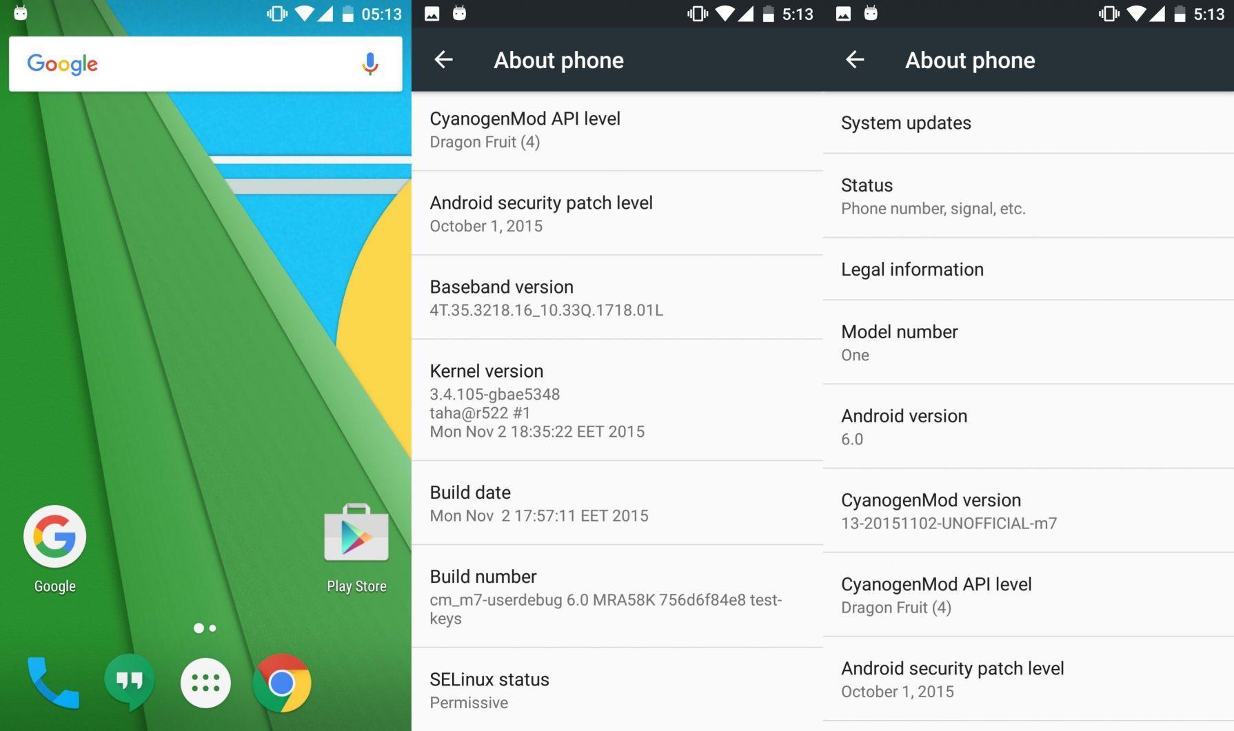 CyanogenMod 13 unofficial HTC One M7