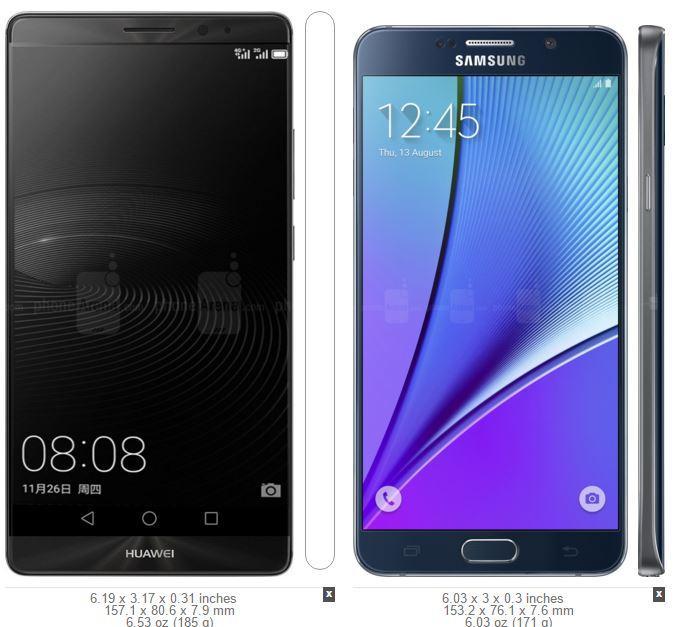Huawei Mate 8 vs Samsung Galaxy Note 5