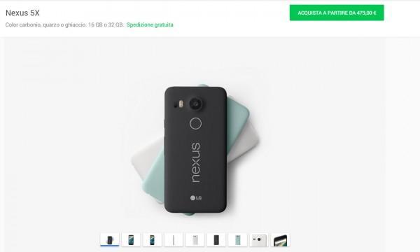 Nexus 5X google store italia