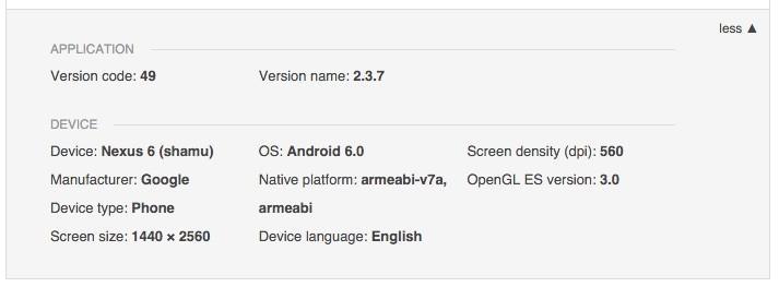 Console sviluppatori recensione app Google Play Store