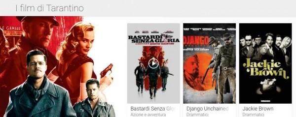 Film su Google Play collezione tarantino