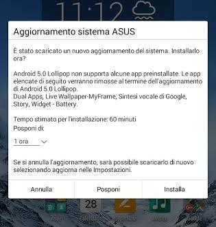 Android lollipop asus memo pad