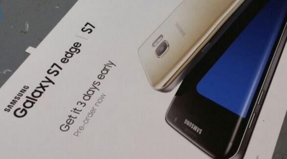 Samsung Galaxy S7 materiali pubblicitari