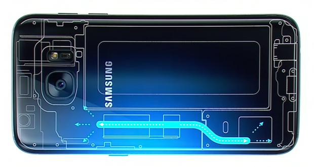 Samsung Galaxy 7 raffreddamento a liquido