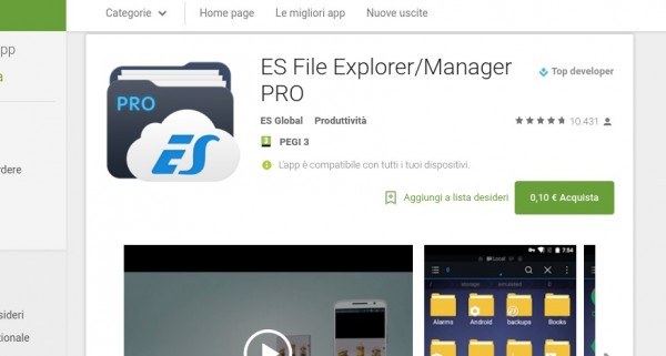 ES File Explorer Manager PRO   App Android su Google Play