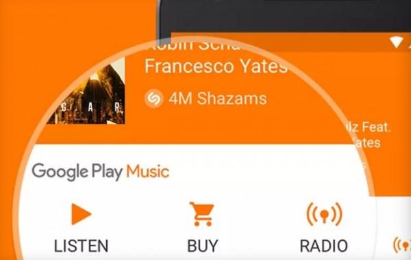 shazam play music