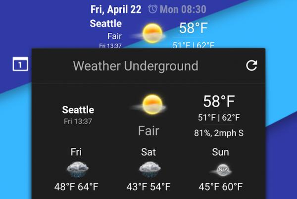 Weather Undergroung CyanogenMod 13