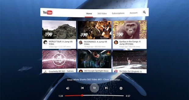 Ecco come sarà YouTube VR, la versione di YouTube apposita per Daydream