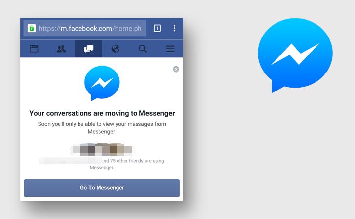 Facebook Messenger web mobile