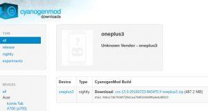 CyanogenMod Downloads