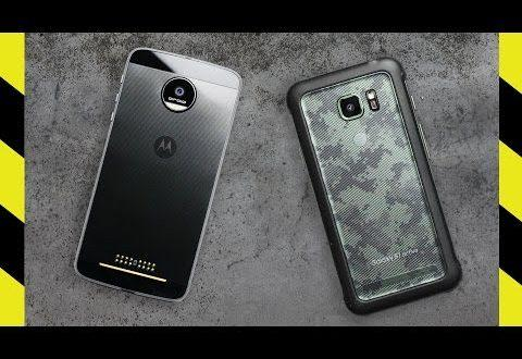 Samsung Galaxy S7 Active vs Motorola Moto Z Force: sfida drop test