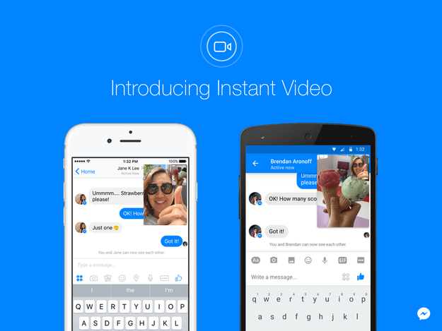 Facebook aggiunge i video live alle conversazioni