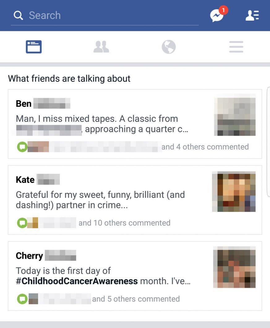 Facebook testa una nuova sezione dedicata agli stati degli amici