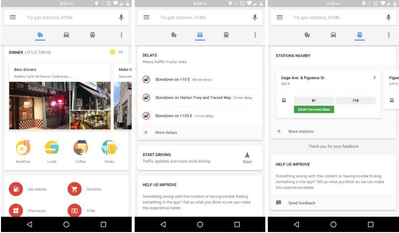 Google Maps nuova barra esplora