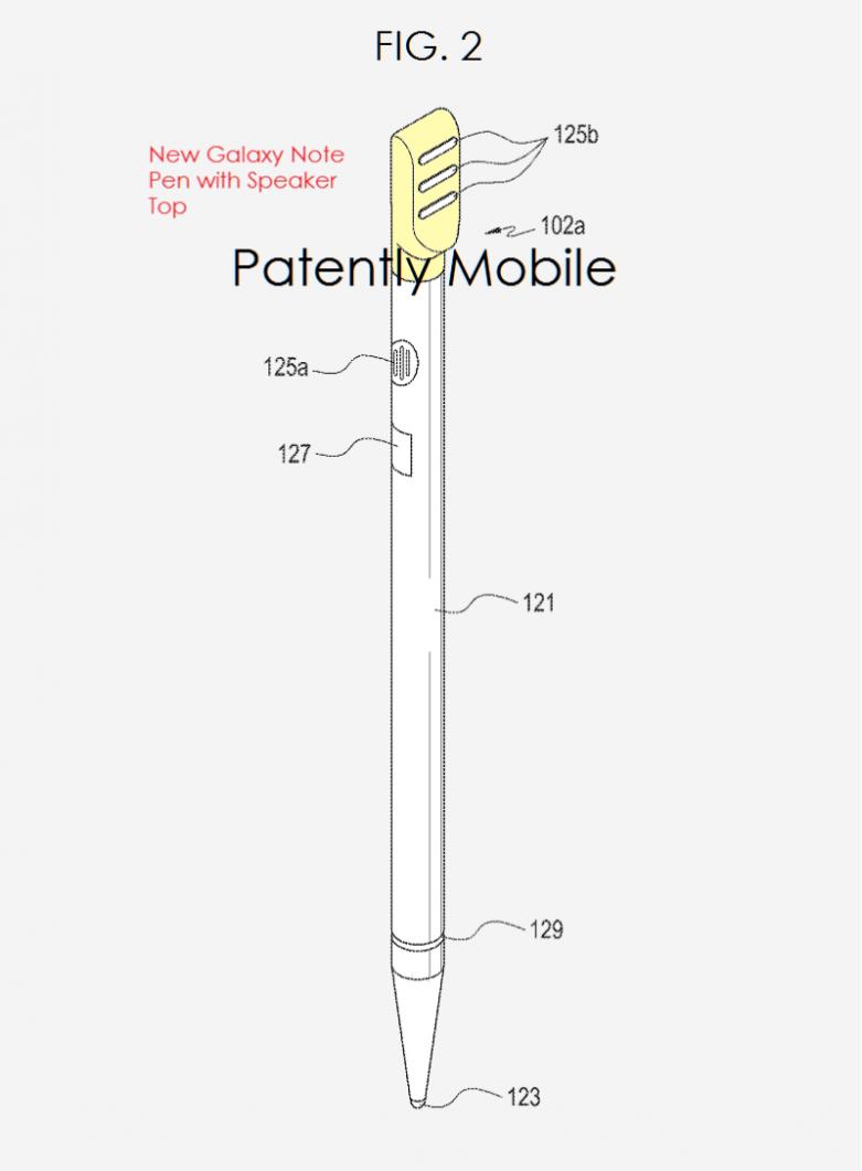 S Pen con speaker brevetto (1)