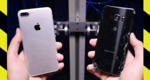 Samsung Galaxy Note 7 vs iPhone 7 drop test