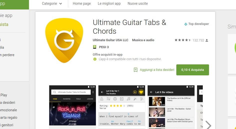 Ultimate Guitar Chords App