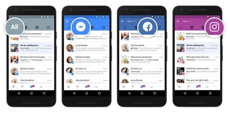 Facebook, Facebook Messenger ed Instagram stream unificato