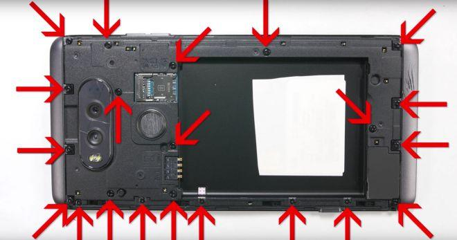 LG V20 teardown