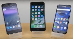 Samsung Galaxy S7 edge vs Google Pixel XL vs iPhone 7 Plus