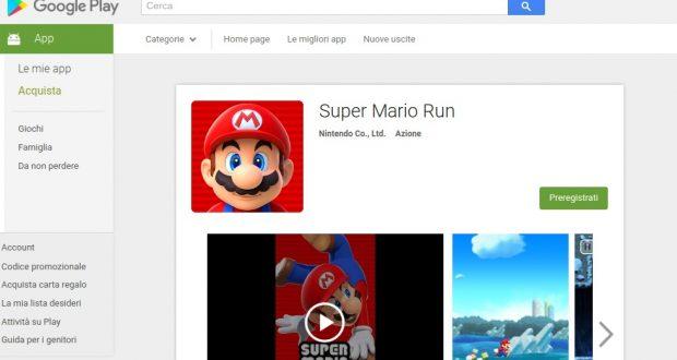 Super Mario Run in arrivo su Android prima del previsto