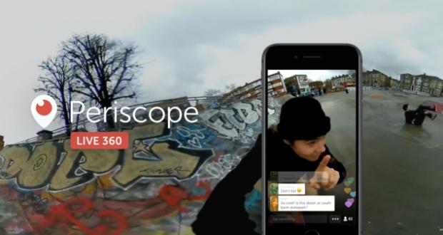 Twitter, disponibili le dirette video a 360 gradi da Periscope