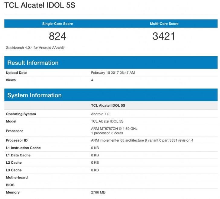 Alcatel Idol 5S, ecco le specifiche del prodotto