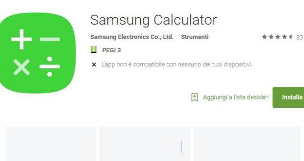 Samsung Calcolatrice