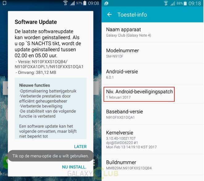 Samsung Galaxy Note 4: l'aggiornamento di sicurezza di febbraio sbarca in Europa