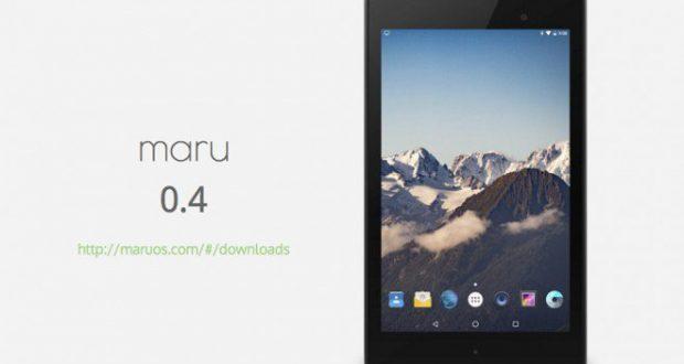Maru OS 0.4 Nexus 7 2013
