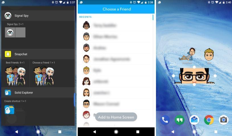 Snapchat 10.4 widget