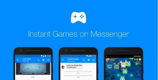 Facebook Messenger: gli Instant Games sono disponibili per tutti