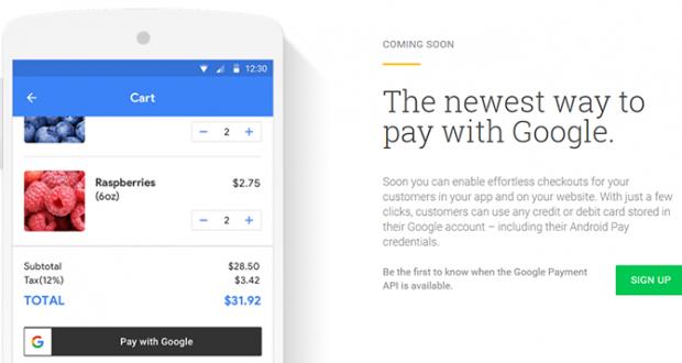 Google nuove API pagamenti