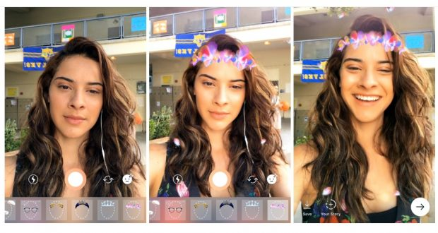 Instagram introduce i filtri a realtà aumentata nelle Storie