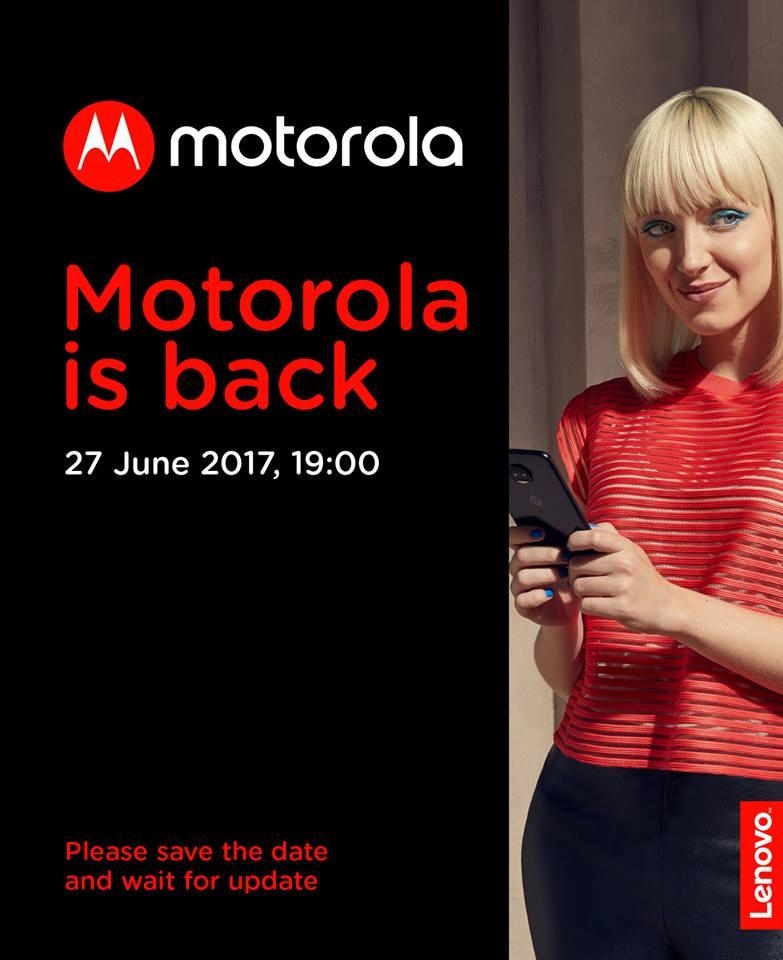 Motorola ha programmato un evento per il 21 giugno?