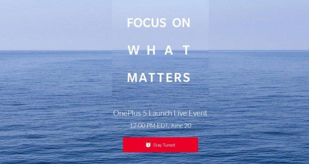 OnePlus 5 presentazione