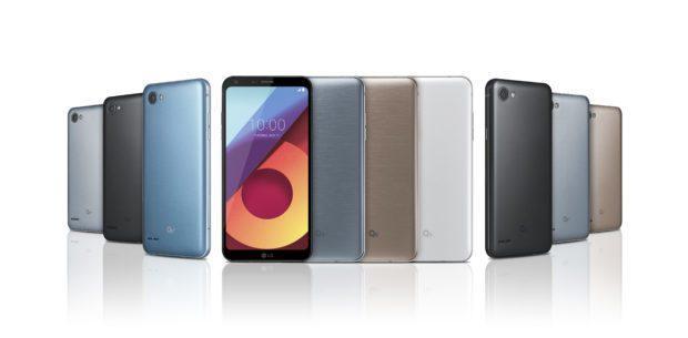 LG Q6, LG Q6+ e LG Q6a